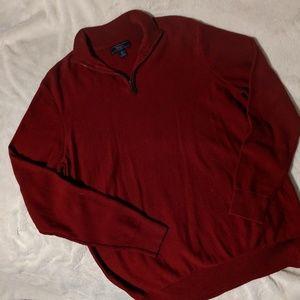 Wilkens Bros. Red Quarter Zip Sweater